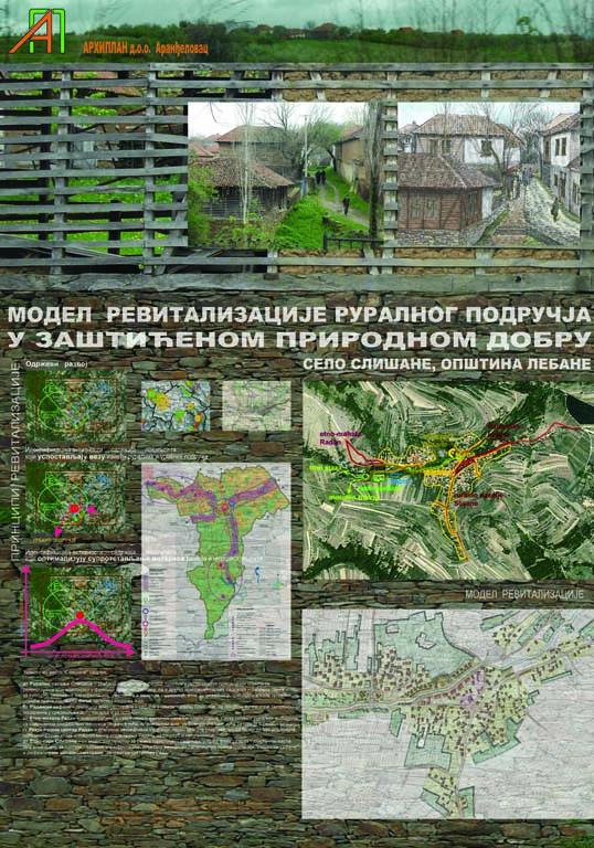 Урбанистичке анализе - Модел ревитализације, Слисане, Лебане