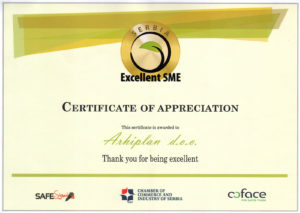 povelja Excellent SME Serbia